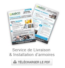 service de livraison et installations d'armoires de securité Haleco