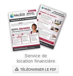 Service de financement et location financiere haleco