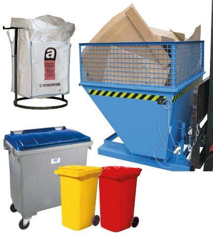 Poubelles, conteneurs pour la collecte et le tri des déchets