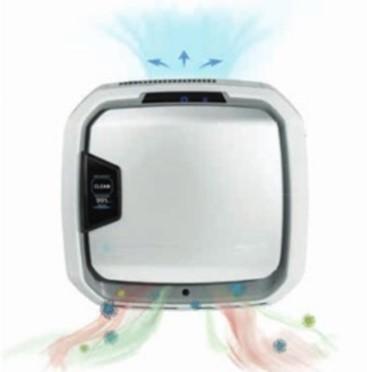Le purificateur d'air aspire et filtrel'air ambiant de la pièce et le rejette purifié